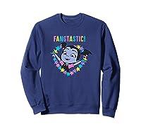 Disney Vampirina Fangtastic T Shirt Sweatshirt Navy