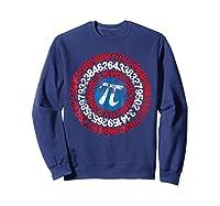 Captain Pi Superhero Shield Funny Math Pi Day Shirts Sweatshirt Navy
