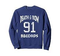 Death Row Records Athletic 91 Distressed T-shirt Sweatshirt Navy