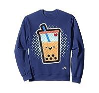 Boba Milk Tea Bubbles T-shirt Sweatshirt Navy