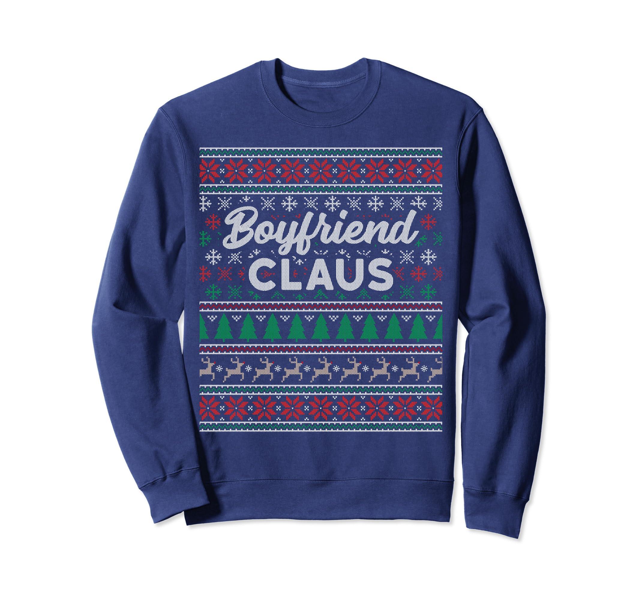 Boyfriend Claus Ugly Christmas Sweater Sweatshirt Pajamas PJ-SFL