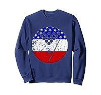 American Flag Billiards Vintage Retro Pool Shirts Sweatshirt Navy