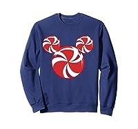Disney Christmas Candy T Shirt Sweatshirt Navy
