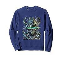 Flat Earth Monster Shirts Sweatshirt Navy