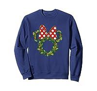 Disney Minnie Wreath T Shirt Sweatshirt Navy