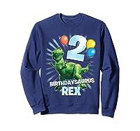 Disney Pixar Toy Story Birthdaysaurus Rex 2nd Birthday T-shirt Sweatshirt Navy