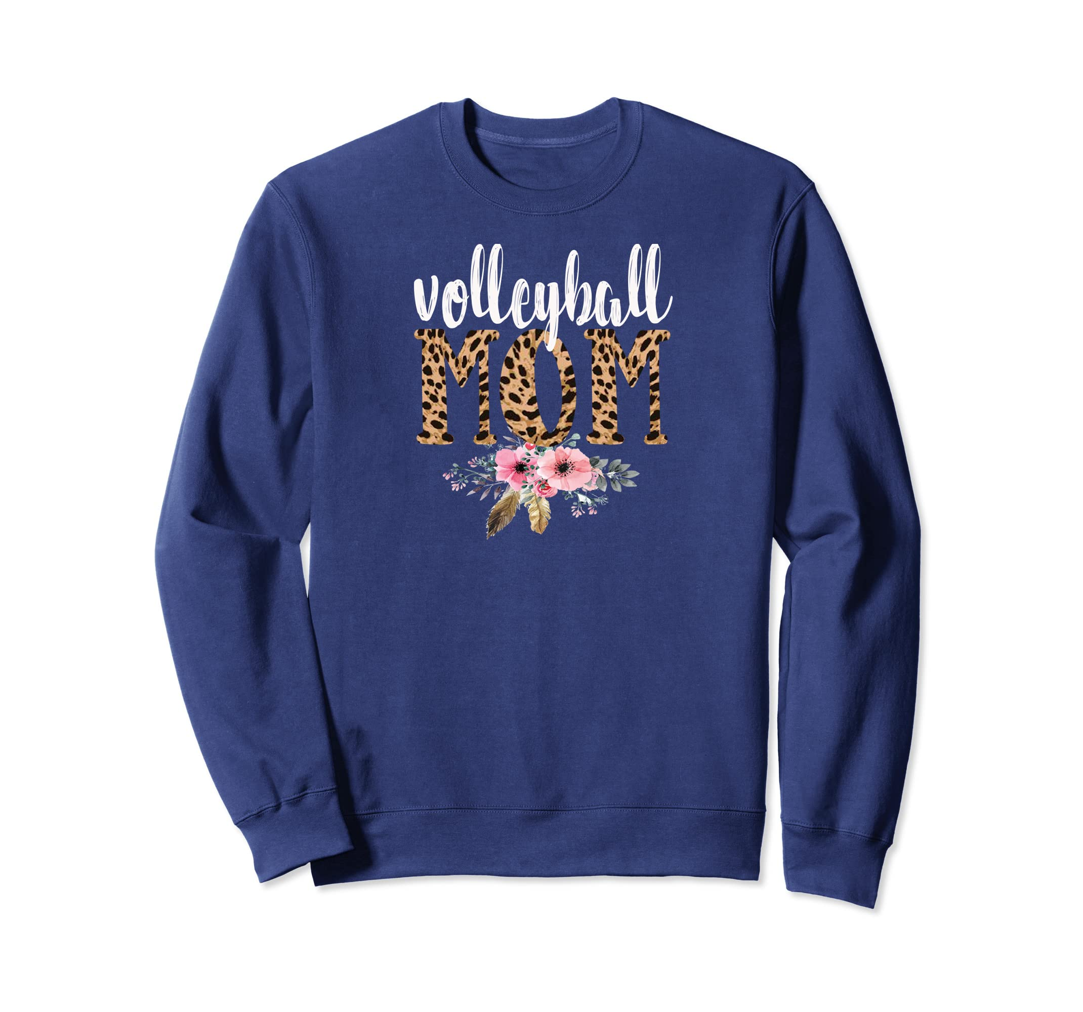 b5b3c3f7e12e Amazon.com: Volleyball Mom to #9 Sweatshirt Boho Leopard T-Shirt: Clothing