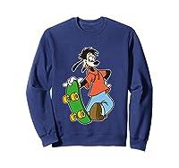 Disney Maxie Skateboard T Shirt Sweatshirt Navy