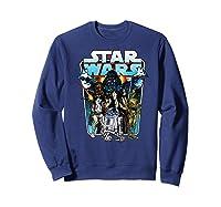 S Classic Comic Art Group Shot Darth Vader Shirts Sweatshirt Navy