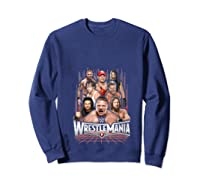 Wrestlemania Group Wwe T-shirt Sweatshirt Navy