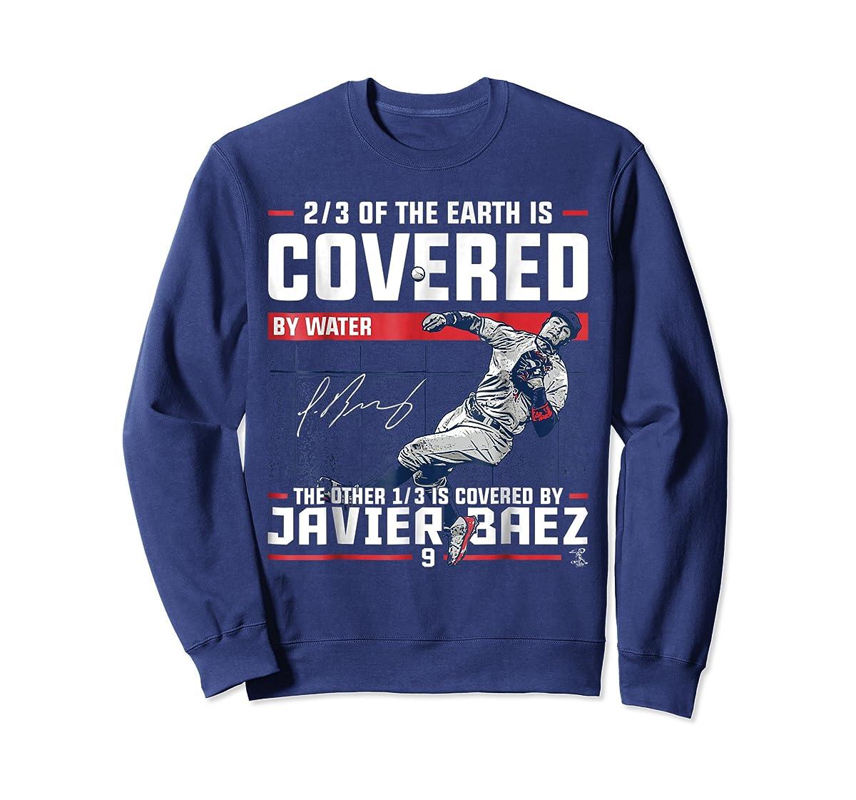 Javier Baez Covered By T-Shirt - Apparel-Sweatshirt-Navy
