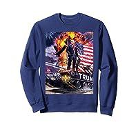Donald Trump Gold Plated Shirt T-shirt Sweatshirt Navy