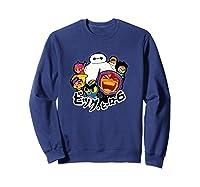 Disney Big Hero 6 Team Of Superheroes Chibi T-shirt Sweatshirt Navy
