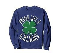 Gllgher St Patrick's Day Beer Irish Shirts Sweatshirt Navy
