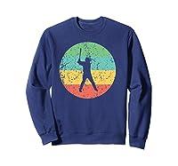 Baseball - Vintage Retro Baseball Player Shirts Sweatshirt Navy
