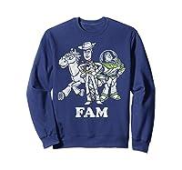 Disney Pixar Toy Story Woody Buzz Bullseye Fam Shirts Sweatshirt Navy