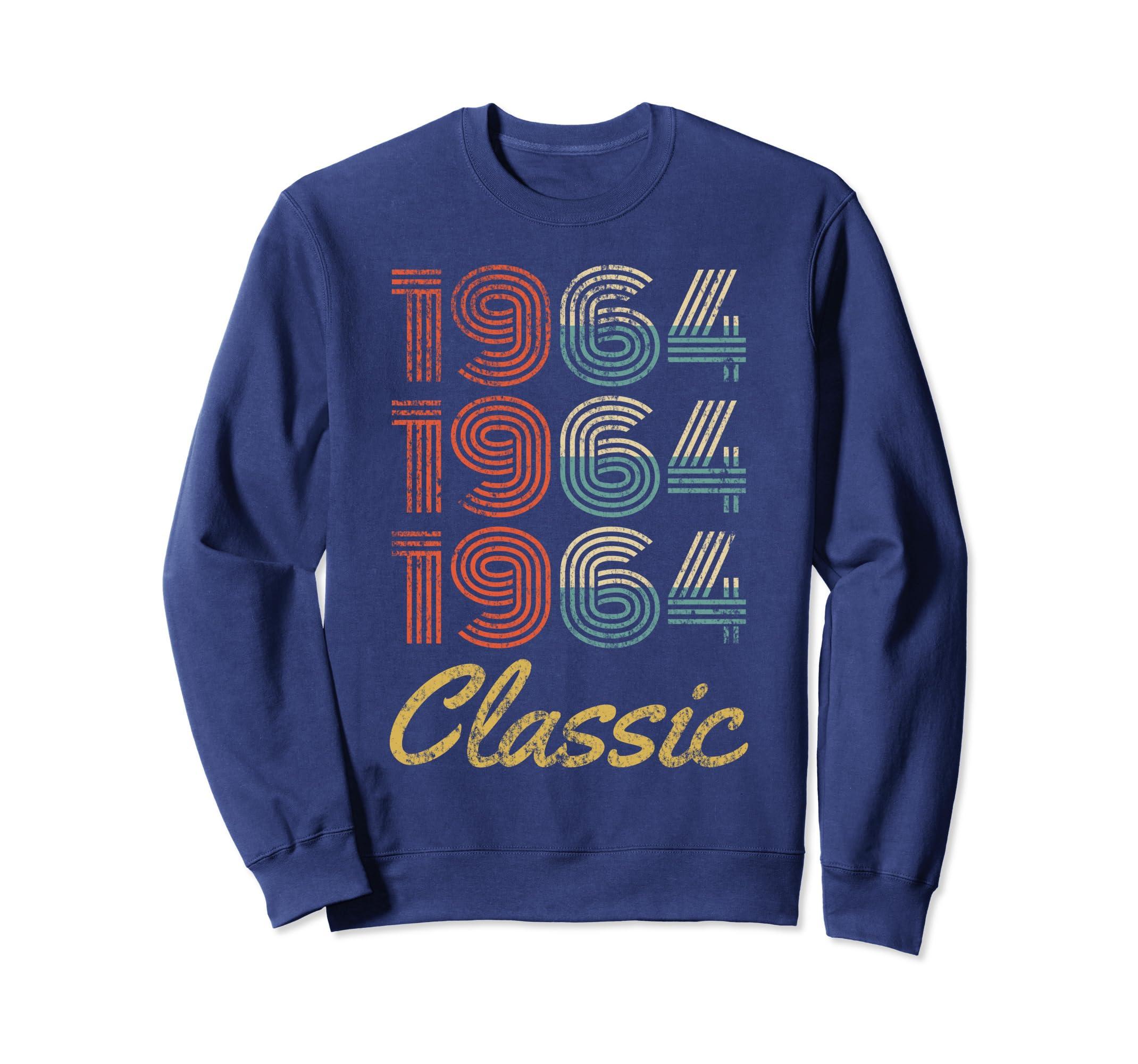 Vintage 1964 Classic   Born in 1964 Birthday Gift Sweatshirt-Bawle