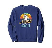 Awesome Since 1984 Year Of Birth Birthday Gift Shirts Sweatshirt Navy