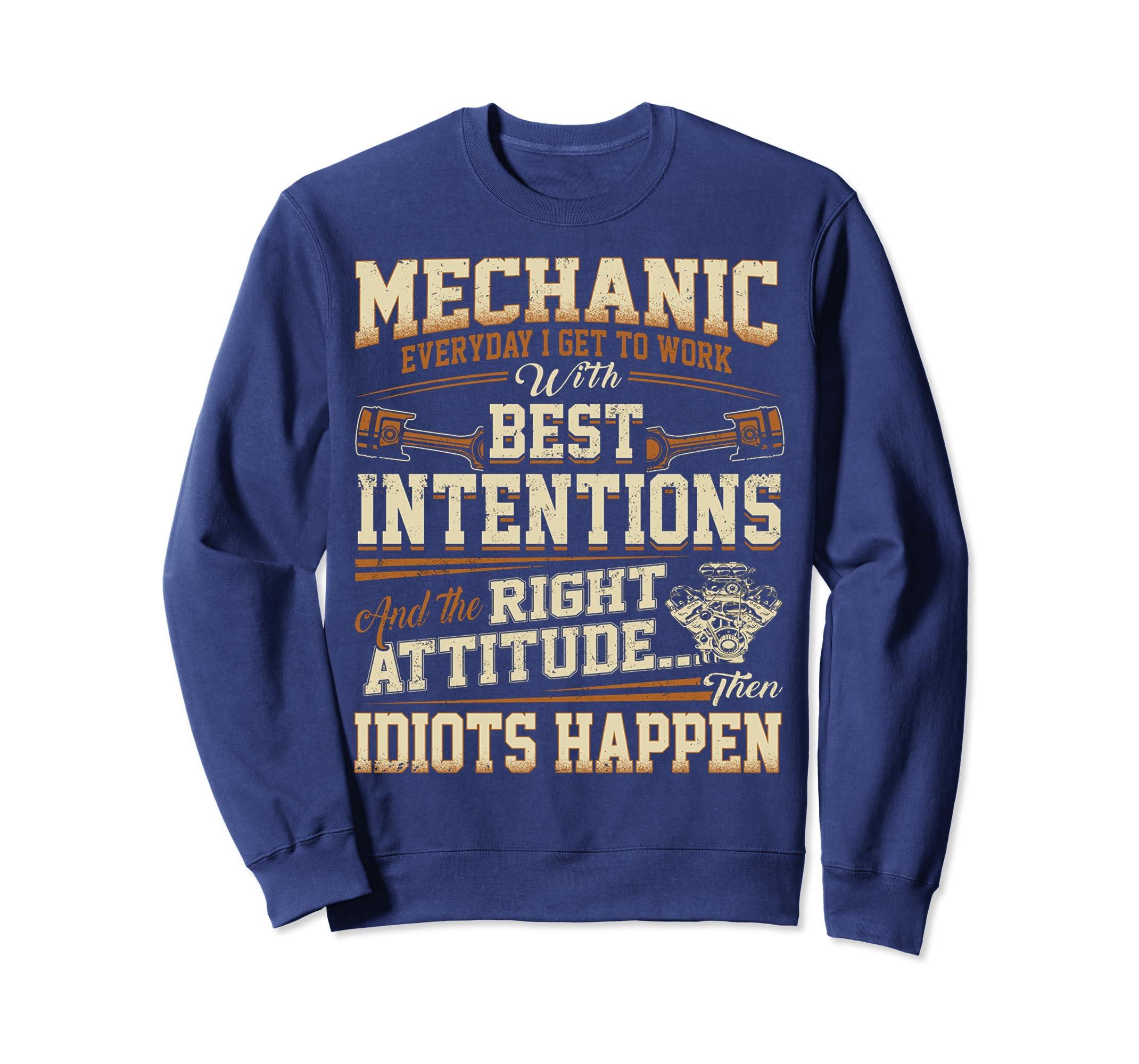 60da48e727ca Amazon.com: Mechanic Everyday Sweatshirt and tee: Clothing
