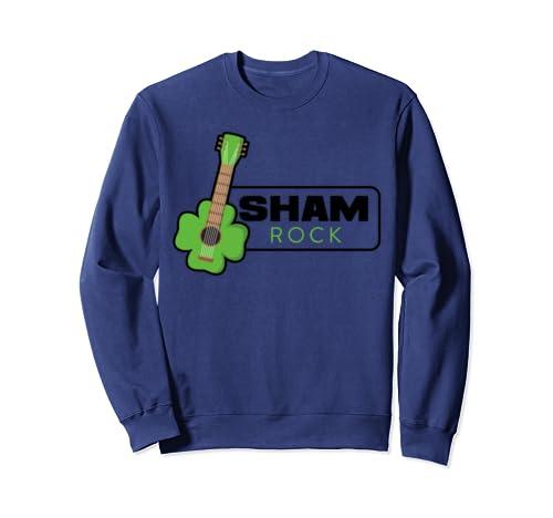 Sham Rock Guitar | Funny St. Patrick's Day Guitarist Sweatshirt