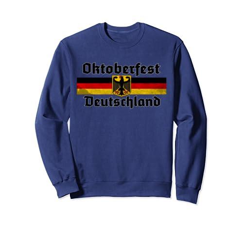 Oktoberfest Costume T Shirt Vintage German Flag Men & Women Sweatshirt