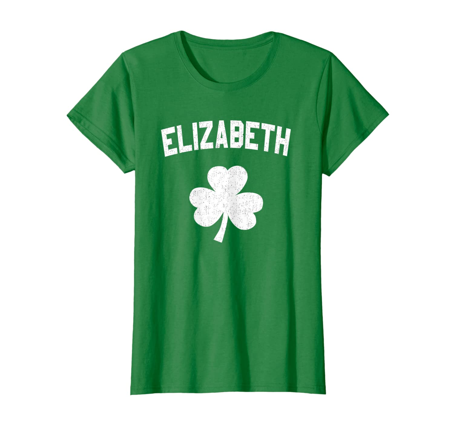 Irish American Shamrock Elizabeth St Patricks Day T-Shirt-Yolotee