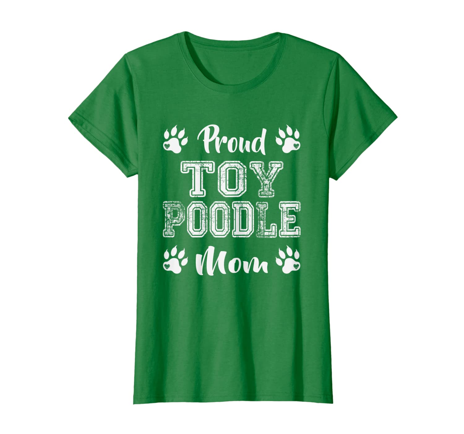 Proud Toy Poodle Dog Mom Paw lovers gifts Family Friends son T-Shirt