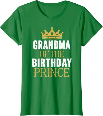 Grandma Of The Birthday Prince Boys Bday Party Gift For Him graphic