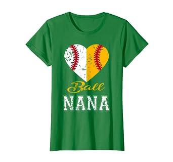 Amazon.com: Divertido pelota Nana playera de béisbol Nana ...