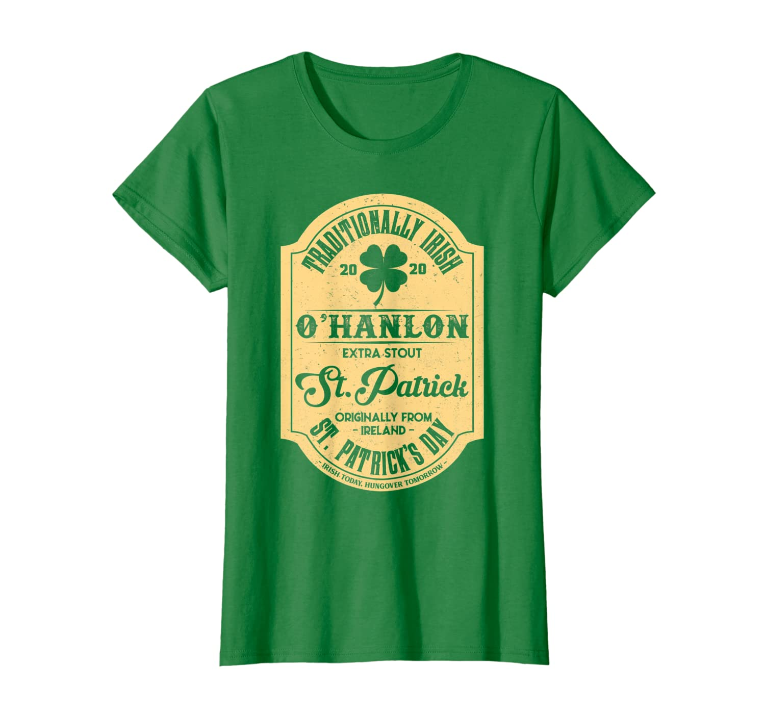 O'Hanlon Irish Name Saint Patrick's Day Proud Ireland T-Shirt-Colonhue