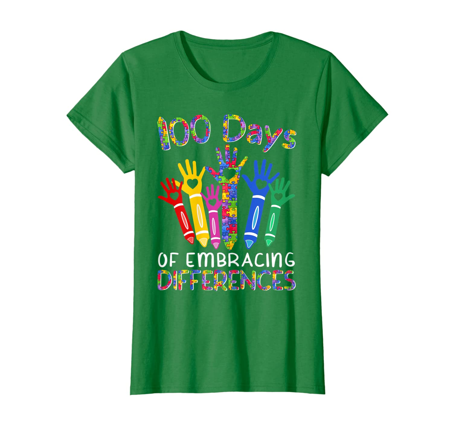 100 Days Of Embracing Differences IEP 100th Day Of School T-Shirt Unisex Tshirt