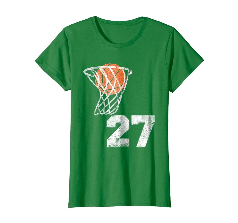 Vintage Basketball Jersey Number 27 T-Shirt Player Number