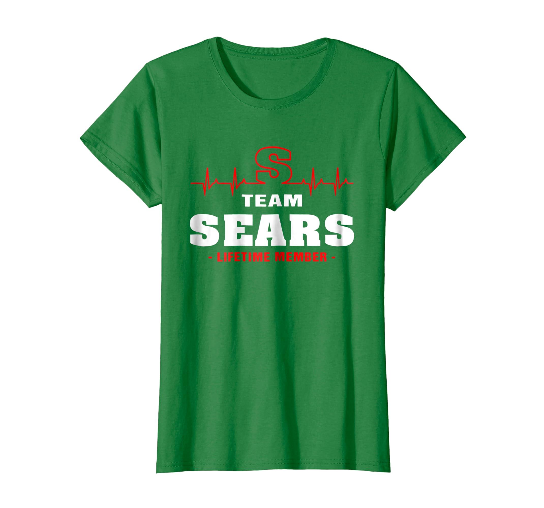 f67bfaab917 Amazon.com: Team Sears lifetime member shirt surname last name: Clothing