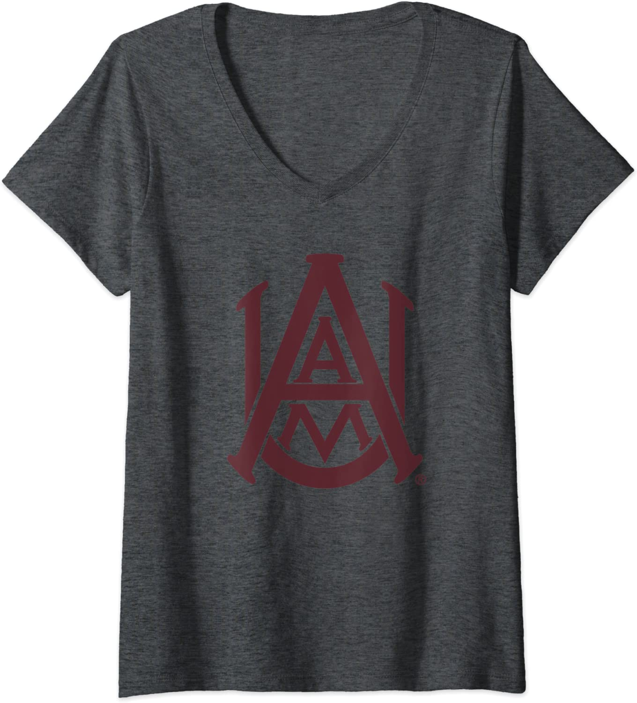 Womens Alabama A/&M University Bulldogs NCAA PPAMU01 V-Neck T-Shirt