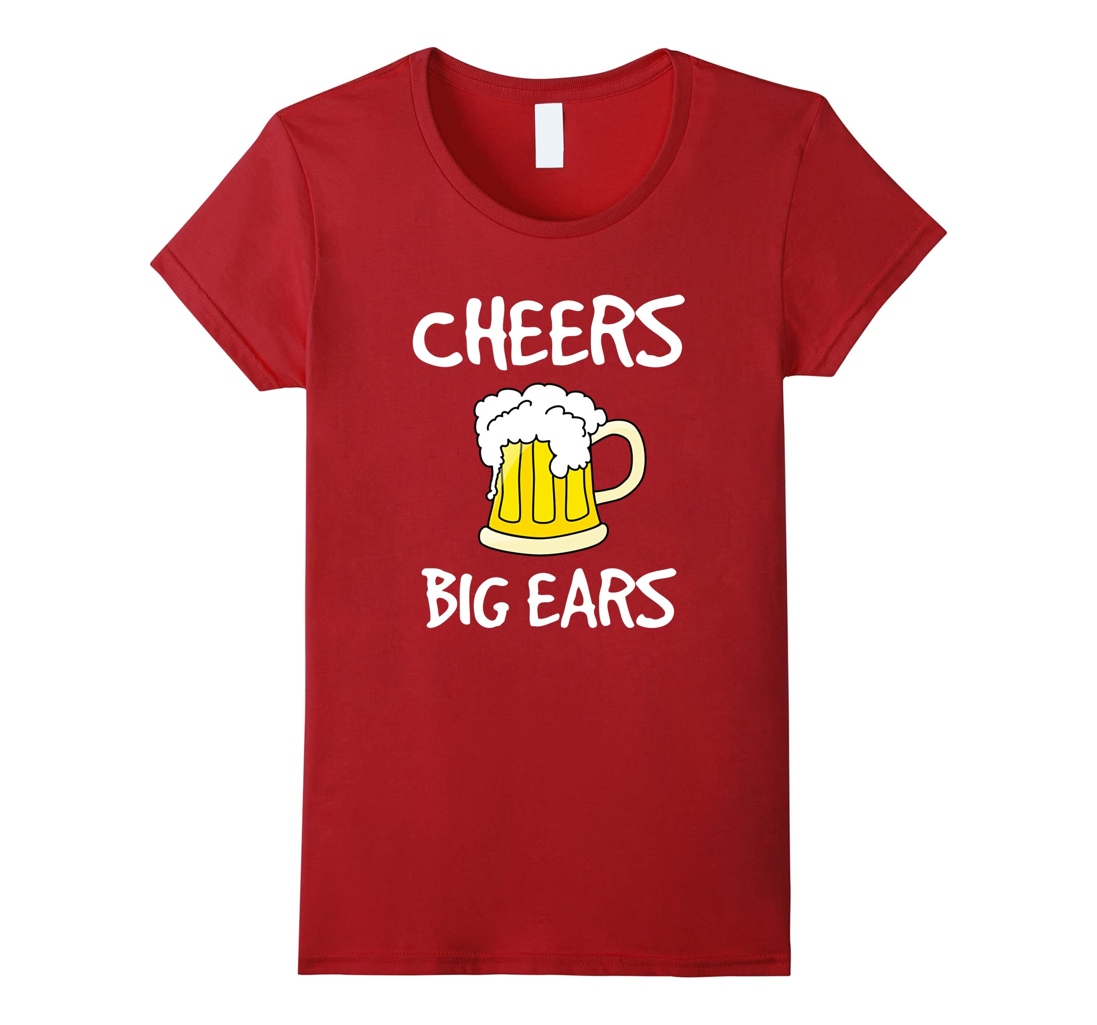 Cheers Big Ears Funny Beer Drinking Shirt