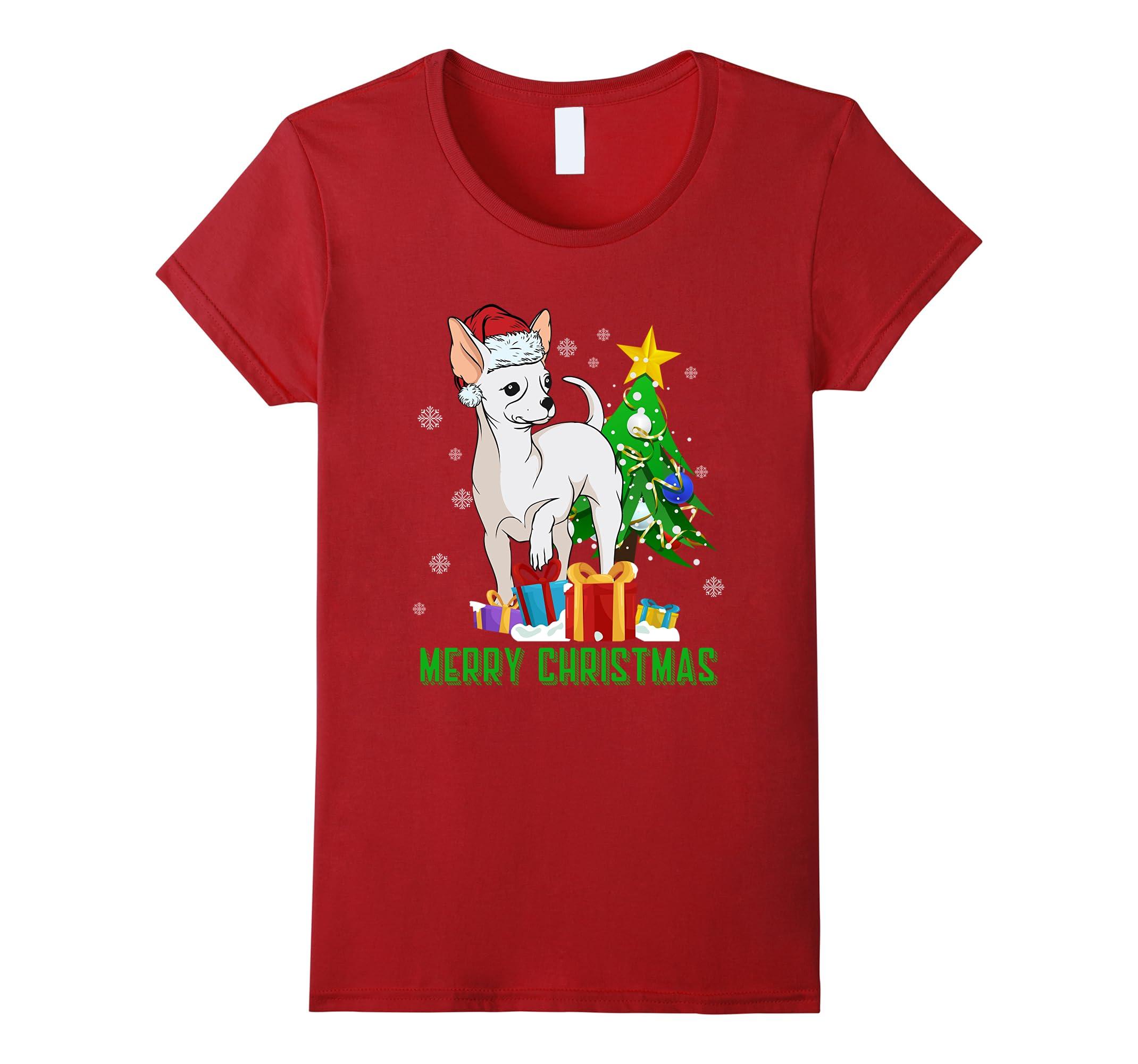 Funny CHIHUAHUA Santa Christmas T Shirt-Samdetee
