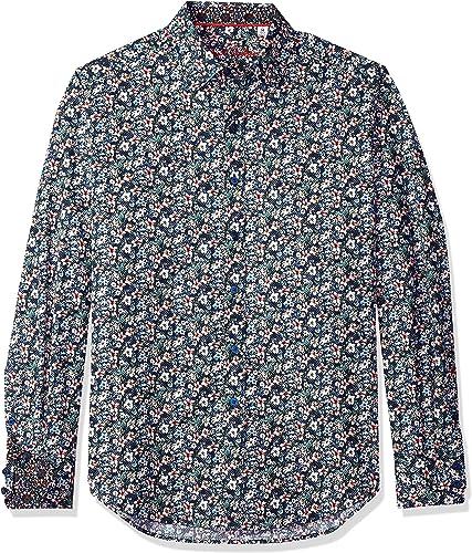 Robert Graham Hommes's Varela manche longue Classic Fit Shirt, bleu, petit