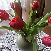 k/ünstliches Tulpenb/ündel Sally mit 4 Tulpen und 3 Tulpenknospen real Touch Beauty