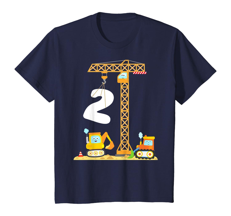 Bambino Bimbo 24 Mesi Gru Escavatore Bulldozer Compleanno 2 Anni Maglietta