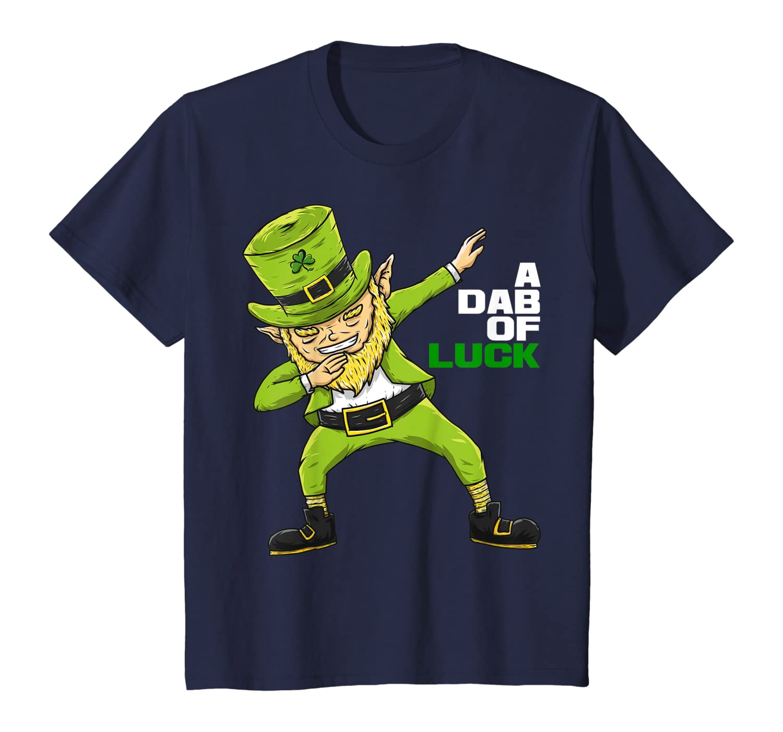 A Dab Of Luck Dabbing Leprechaun  St Patricks Day Tee T-Shirt-Awarplus