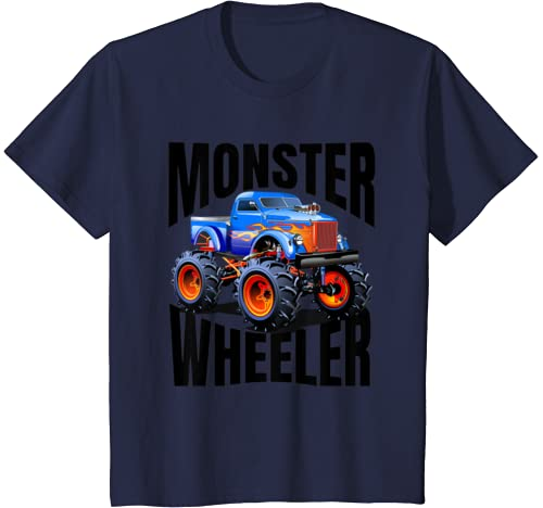 "Kids The Best ""Monster Trucks Rule"" T Shirts On The Planet. T Shirt"