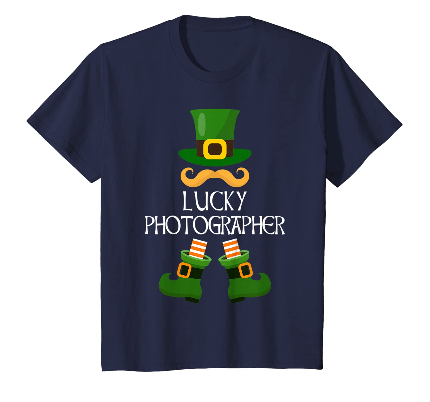 Funny Photographer Lucky Leprechaun Gifts St Patricks Day T-Shirt-Yolotee
