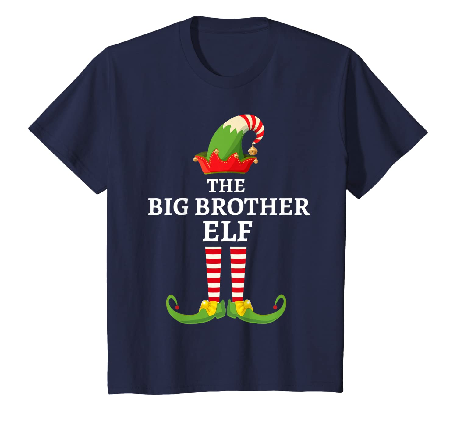 Big Brother Elf Matching Family Christmas Party Pajama T-Shirt