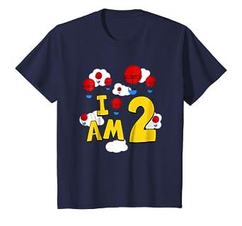 Amazon.com: Niños 2 nd globo de cumpleaños playera. Niñas ...
