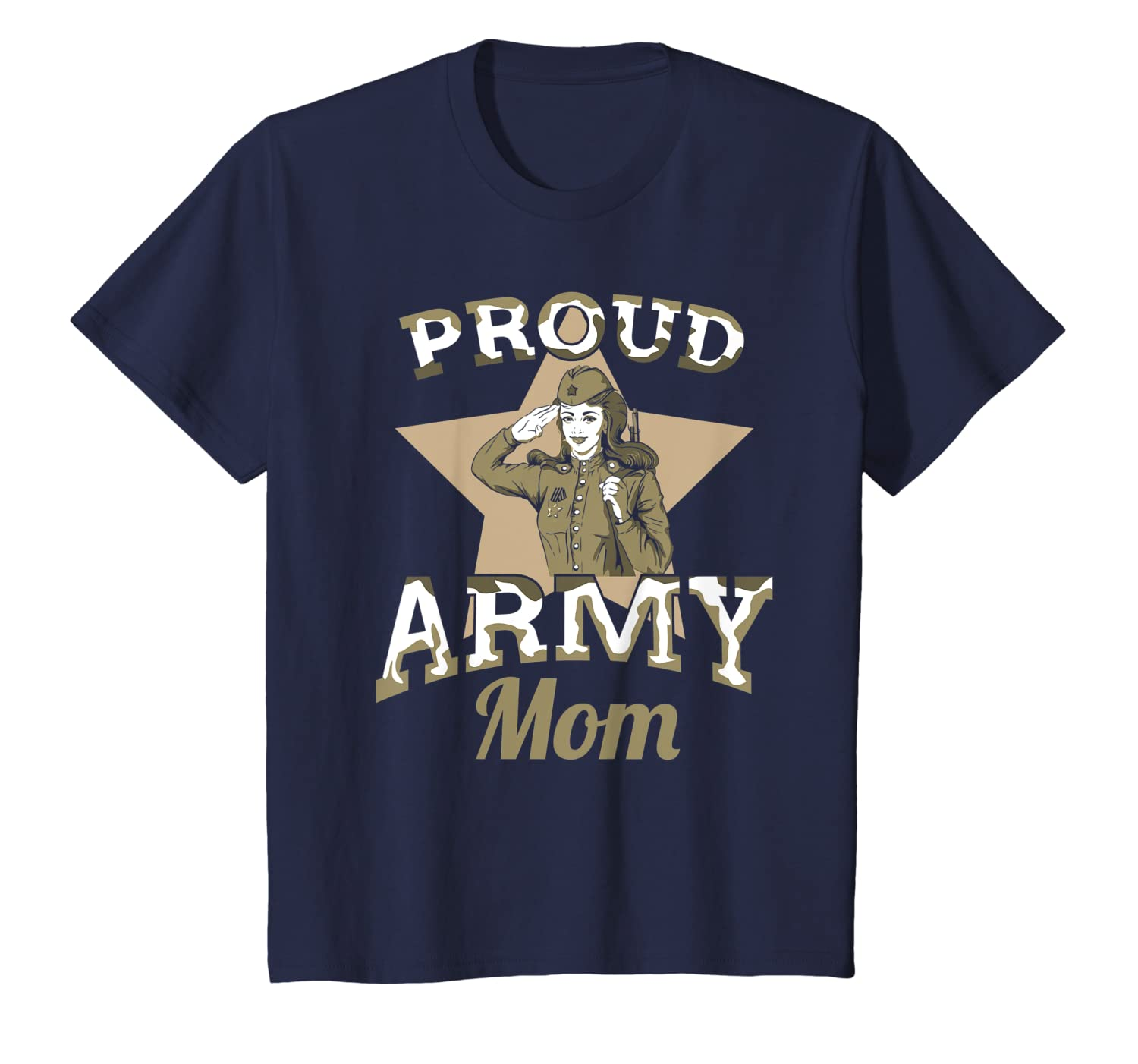 Proud Army Mom Quote Veteran Day T-Shirt