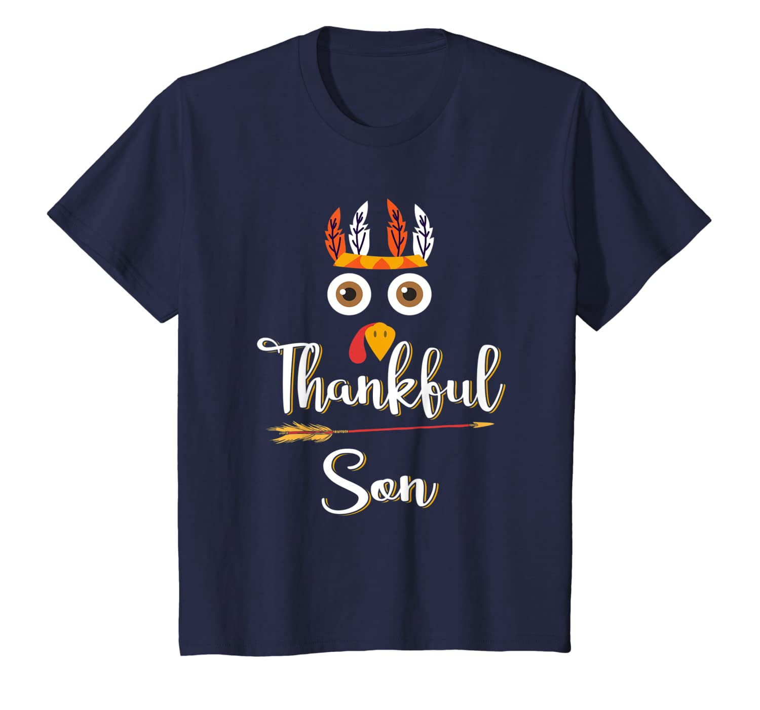 Thankful Son Feather &Amp; Arrow Thanksgiving Turkey T-Shirt