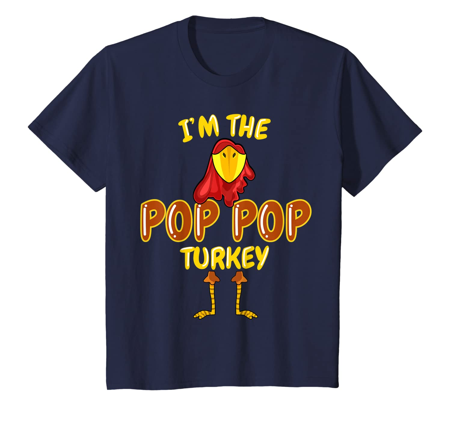 Pop Pop Turkey Matching Family PJs Outfit Funny Thanksgiving T-Shirt