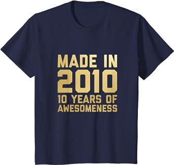 Niños Camisa de 10º cumpleaños Chicas Chicos de 10 años ...