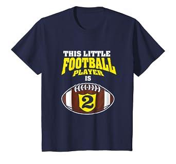19e879dc1e17d Amazon.com: Kids 2nd Birthday Boys Football T-Shirt Sport 2 Year Old ...