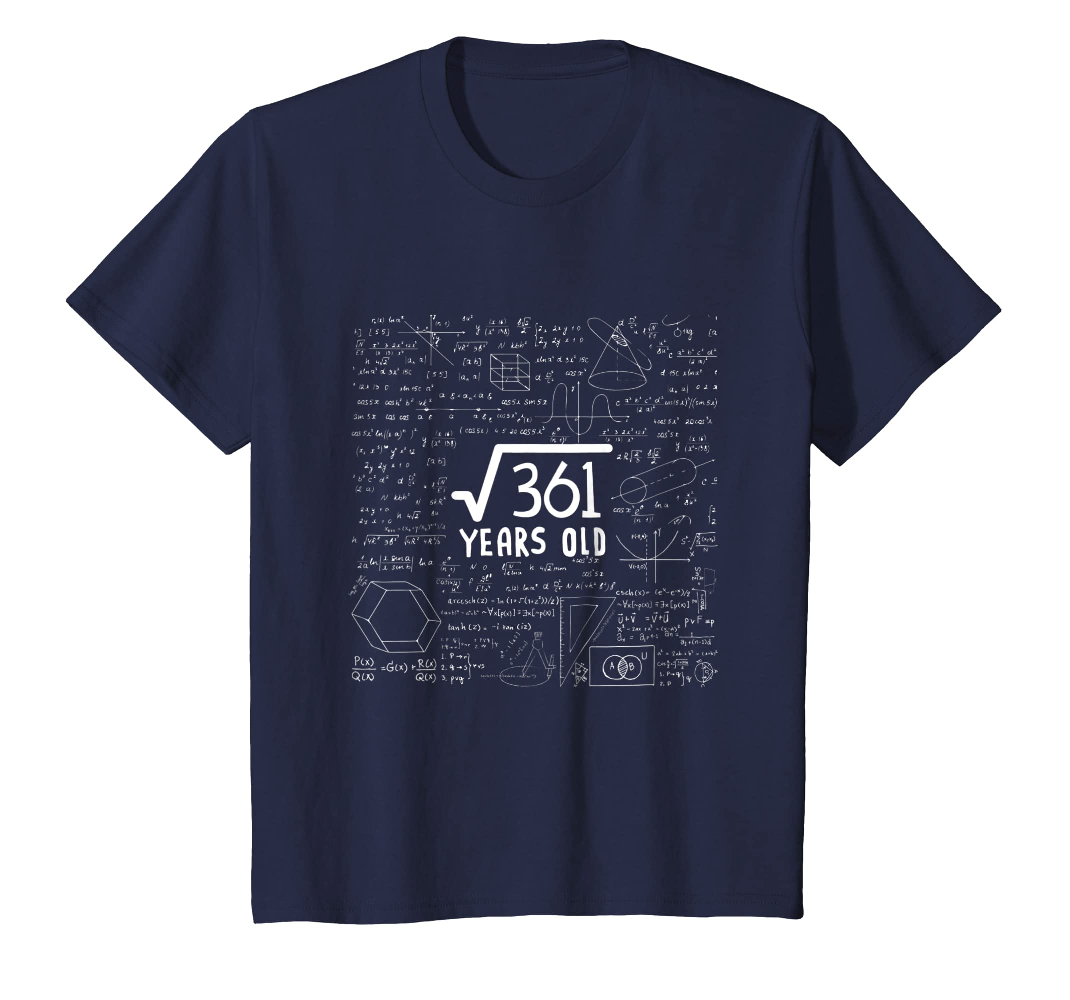 Amazon.com: Square Root of 361: 19th Birthday Gift 19 Years Old T-Shirt: Clothing